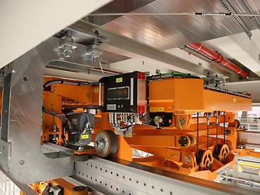 Orange dual-track electrified monorail system, drive technology and EMS wheel