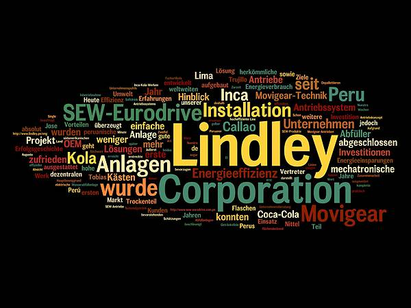 Tag cloud Lindley