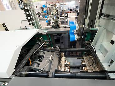 View into the injection moulding machine
