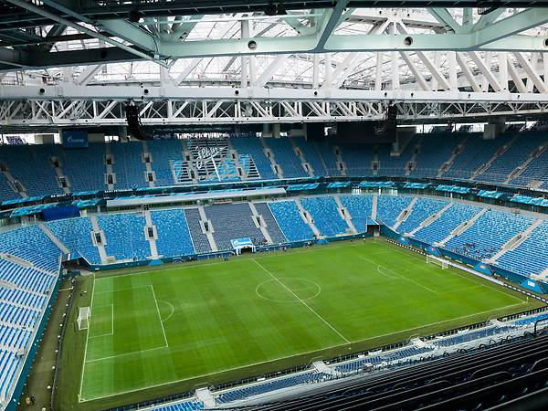View into the Zenit Arena