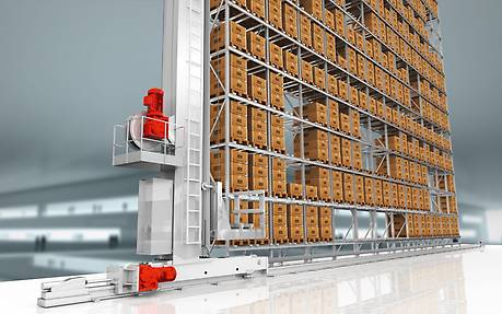 Stacker crane in the transportation and logistics industry
