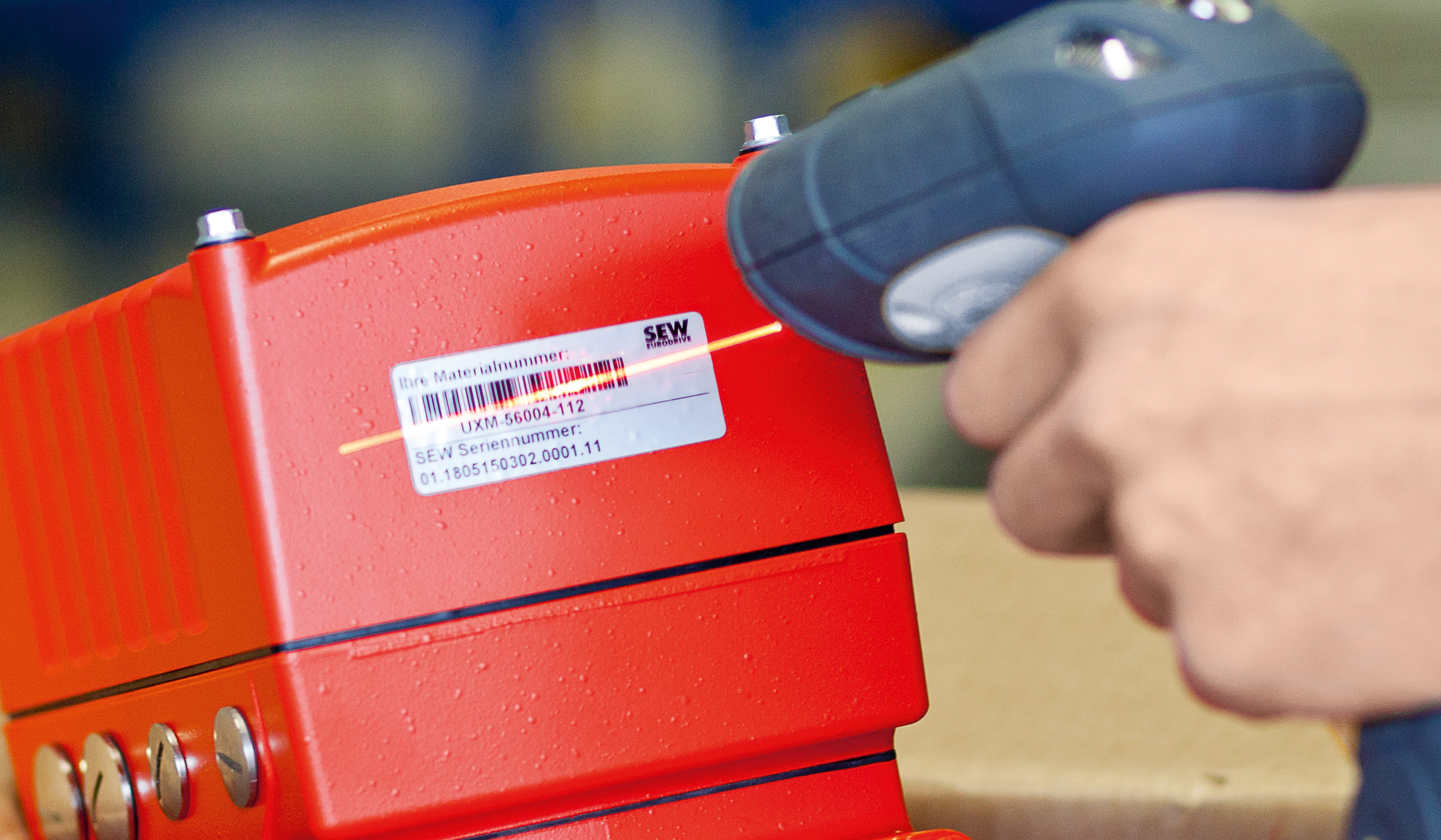 Scanning barcode labels on the product