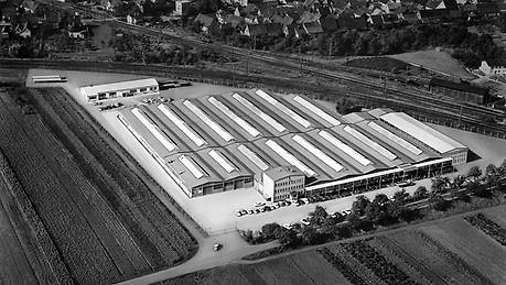 Aerial view of the Graben-Neudorf plant, circa 1950