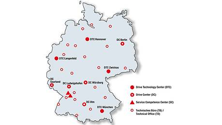 Locations in Germany