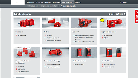 Here, we demonstrate the ideal tool to help you select from our products. The tour demonstrates the configurator's functions and explains how it's used.