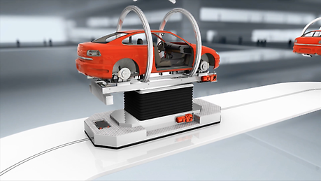Implement safe and efficient processes in automobile production. Our 3D animation highlights how we help you to do so.
